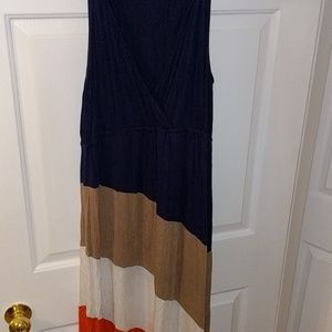 Beautiful colorblock maxi dress